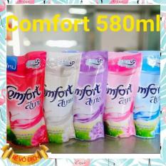 (set 6 gói) Nước xả vải Thái Lan Comfort đủ màu gói 580ml mùi thơm dễ chịu sử dụng được cho bé
