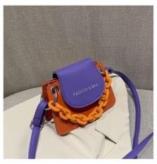 Túi đeo chéo nữ dây xích mini 2 màu Fashion & Bag