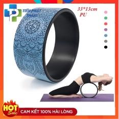 [Lấy mã giảm thêm 30%]Vòng tập yoga 33cm bọc cao su Pu Họa Tiết Mandala -Xanh Dương chống trơn trượt 100% khung nhựa siêu cứng( Bảo Hành 12 Tháng)tienphatsmart