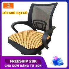 }Lót ghế văn phòng – Lót ghế ô tô hạt gỗ thông – Massage thông thoáng KT 45×45 cm hạt 14 li