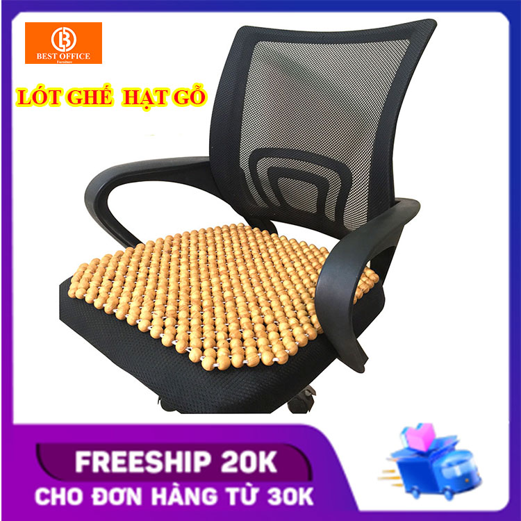 Lót ghế văn phòng - Lót ghế ô tô hạt gỗ thông - Massage thông thoáng KT 45x45 cm hạt...
