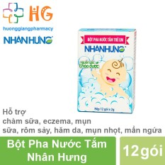 Bột pha nước tắm trẻ em Nhân Hưng (Hộp 30 gói)