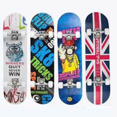 Ván Trượt Skateboard,Ván Trượt, Ván Trượt Dài, Ván Trượt Thể Thao, Ván Trượt Cỡ Lớn Đạt Chuẩn Thi Đấu (Mặt Nhám + Bánh Cao Su)-Giao Màu Ngẫu Nhiên, Bảo Hành Uy Tín 1 Đổi 1 Trên Toàn Quốc.-