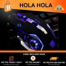 Chuột Game thủ DeTeK Divipad GearLord G502 có đèn LED đổi màu cực đẹp (Đen)
