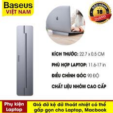 Giá đỡ máy tính Baseus Papery Notebook Holder có thể điều chỉnh gấp di động dùng cho MacBook Pro Air hoặc các dòng Laptop 11.6-17 Inch