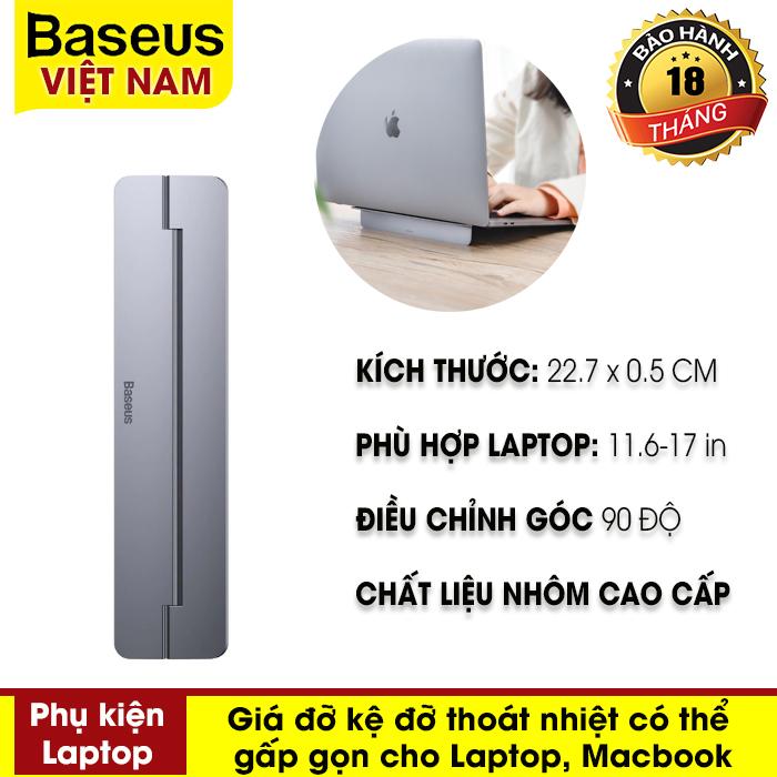 Giá đỡ máy tính Baseus Papery Notebook Holder có thể điều chỉnh gấp di động dùng cho MacBook Pro Air...