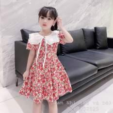 HÀNG MỚI VỀ 💥💥 Váy bé gái hoa hồng nhí cổ nơ cực xinh cho bé từ 8-30kg