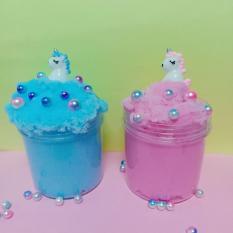 Combo 2 hộp slime mây kèm 2 charm unicorn