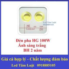 Đèn Pha Led HG2 100W 2 Mắt Tròn (Ánh Sáng Trắng) BH 24 Tháng