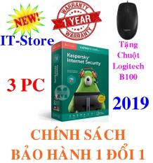 PHẦN MỀM DIỆT VIRUS KASPERSKY INTERNET SECURITY 3PC/Năm – 2019 + B100