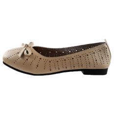 Giày Bệt Nữ Giày Lười Nữ Dáng Xinh Mềm Mại Evelynv GB3812 (Đen – Kem)