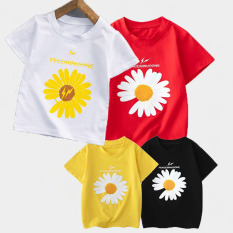 SÉT 4 ÁO thun trẻ em ( trai và gái).áo hoa cúc siêu hót cho bé từ 6kg-30kg.-AOLE06.