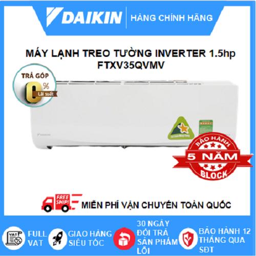 Máy Lạnh Treo Tường FTXV35QVMV- 1.5hp – Daikin 12000btu Inverter loại cao cấp – Gas R32 – Điều hòa chính hãng – Điện máy SAPHO