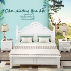 Giường đôi giường công chúa 1.8m kiểu dáng đơn giản bán cổ điển thanh lịch bit cheaper