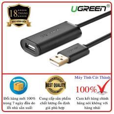 Dây USB 2.0 nối dài dài 10M Active có CHIP UGREEN US121 10321 (màu đen)