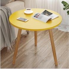 Bàn sofa mặt tròn màu vàng thương hiệu IGEA