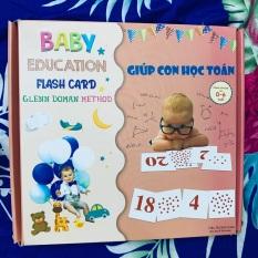 Bộ thẻ Dot card 56 Thẻ chấm Giúp con học Toán 28×28 cm Flashcard Glenn Doman
