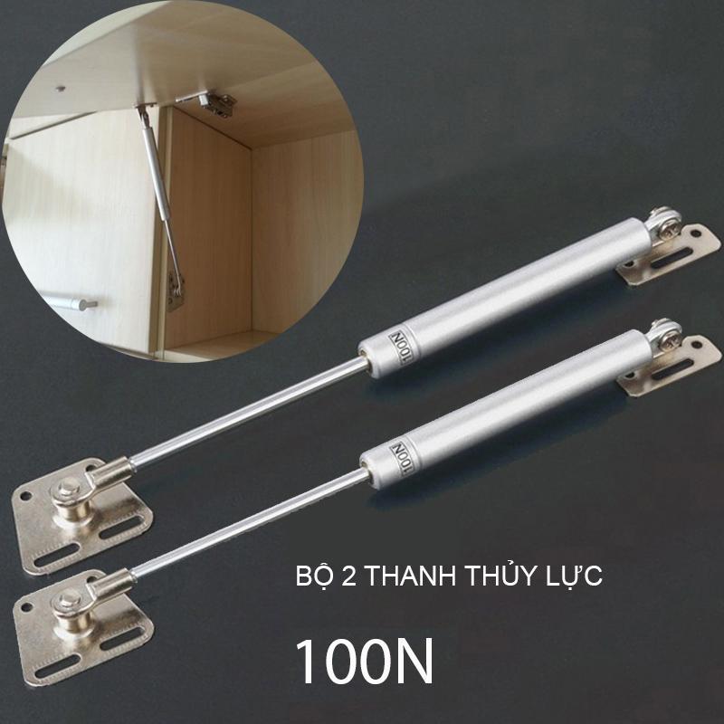 Bộ 2 Tay Piston nâng thủy lực cho tủ bếp, hòm, tủ đa năng 100N