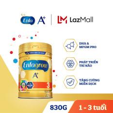 Sữa bột Enfagrow A+ 3 cho trẻ từ 1-3 tuổi (830g) – Cam kết HSD còn ít nhất 10 tháng