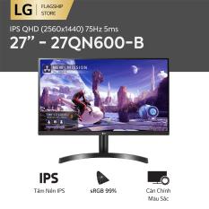 [TẶNG TAI NGHE LG NECKBAND 1.990K] Màn hình máy tính LG IPS QHD (2560×1440) 75Hz 5ms 27 inches l 27QN600-B | HÀNG CHÍNH HÃNG