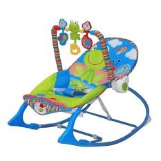 Ghế nhún phát nhạc cho bé – Màu xanh
