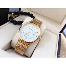 Đồng hồ Nam dây vàng Baishuns BS003 có lịch tặng vòng tì hưu