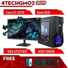 Máy Tính Chơi Game 4TechGM02 – 2019 Core i5-3470, Ram 8GB, HDD 500GB, VGA GTX 750Ti, Màn hình LG 19.5 inch – Tặng Bộ Phím Chuột Gaming DareU.