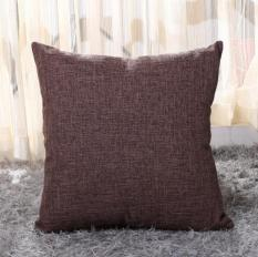 Vỏ Gối Tựa Lưng, gối Trang Trí Sofa Vải Lanh Trơn Màu Vải Bố dày Dặn Cao Cấp