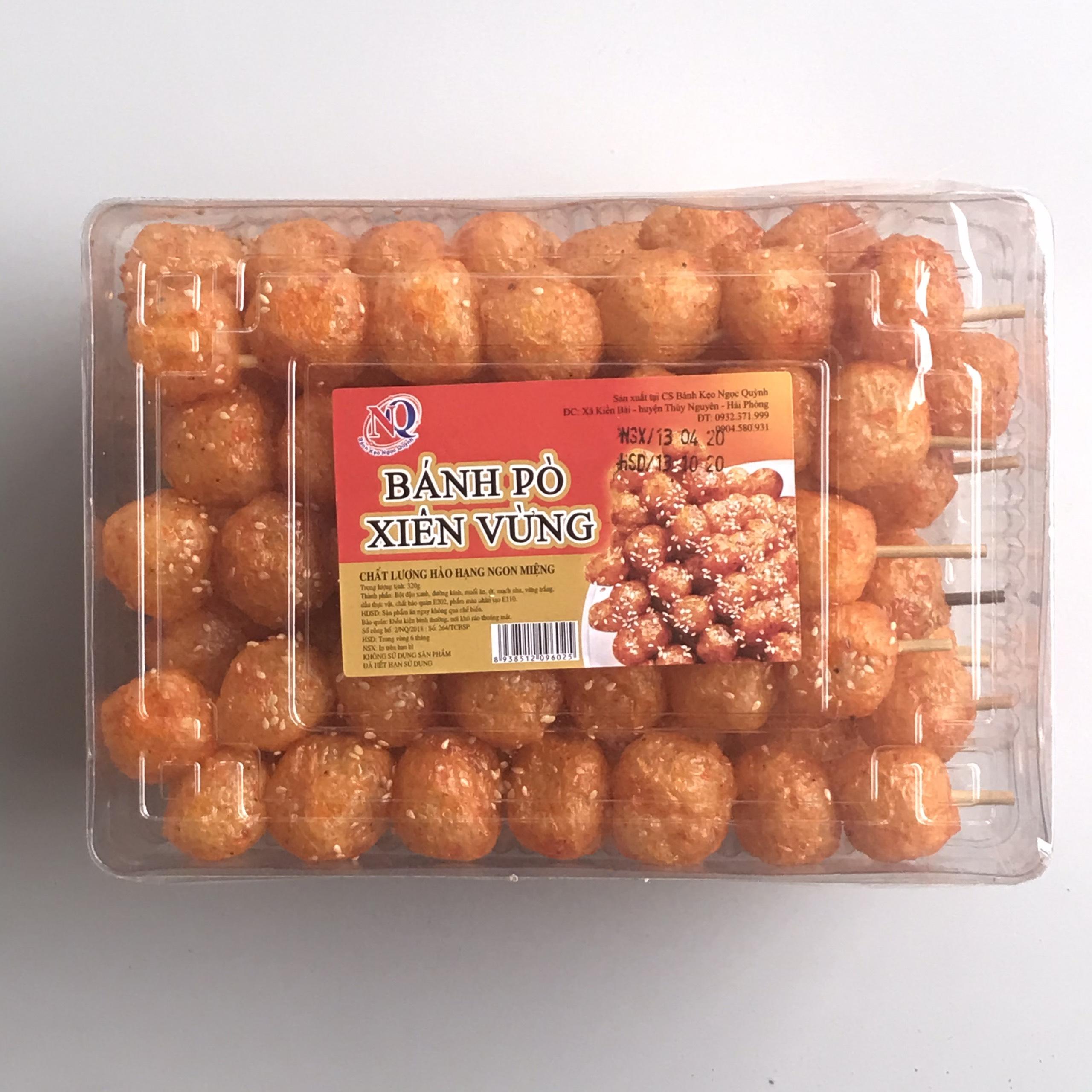 Bánh pò quẩy - xiên vừng (hộp 320g)