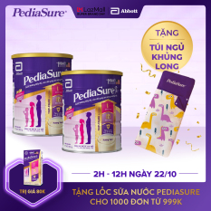 [GIẢM 40K ĐƠN 1.2TR]Bộ 2 lon sữa bột Pediasure 850g hương Vani tặng Túi ngủ
