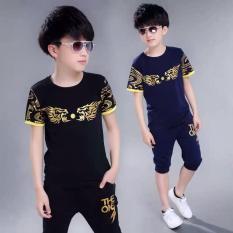 Bộ quần áo bé trai in đầu rồng siêu ngầu