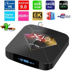 Android TV Box X10 Plus 6K ram 4GB bộ nhớ 64GB