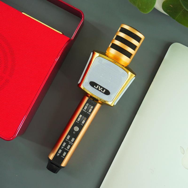 Micro hát karaoke Bluetooth kèm loa không dây SD17 JVJ 3 in 1 – Bass cực chuẩn hỗ trợ cổng cắm thẻ nhớ, jack 3.5mm, Nghe Nhạc Cực Hay, Mic Bắt Giọng Rất Tốt, Hỗ Trợ Kết Nối USB, Thẻ Nhớ, Cổng 3.5, Nhiều Màu Sắc Bh 6 tháng