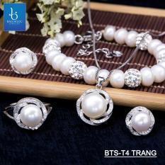 [FLASH SALE] Bộ trang sức Ngọc Trai Thiên Nhiên T4