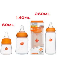 Bình sữa Wesser cổ hẹp cho bé 60ml/140ml/250ml loại sx mới nhất 2021