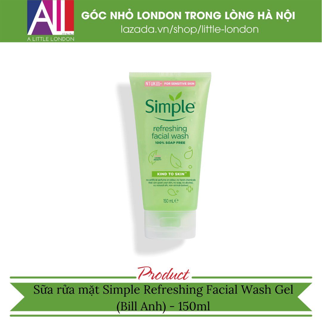 Sữa rửa mặt Simple Refreshing Facial Wash Gel (Bill Anh)