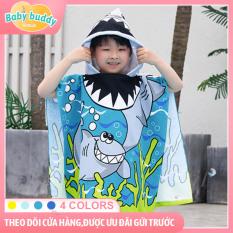 [Khoảng lưu trữ riêng của bé] Khăn tắm mềm xuất khẩu sang Hàn Quốc, khăn tắm thấm nước trùm đầu bằng vải bông, chăn cho bé khi đi ra ngoài, trẻ sơ sinh có thể mặc dùng làm áo choàng tắm dễ thương trên bãi biển