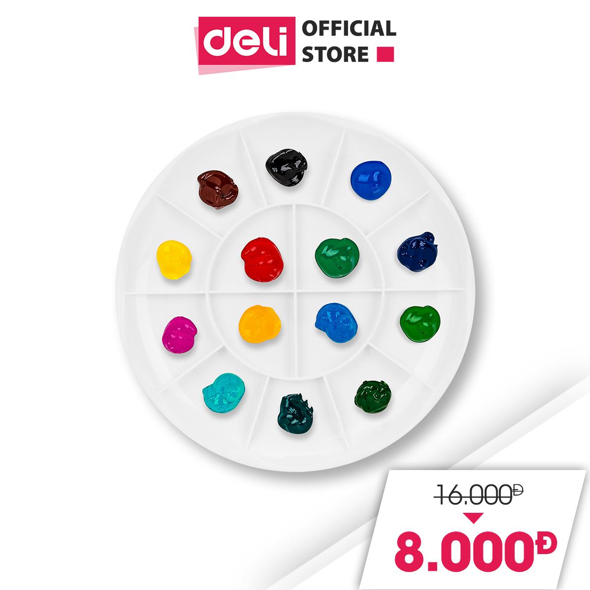 [GIẢM GIÁ SỐC 50%] Khay pha màu Deli – 14 ngăn – 1 chiếc – 68306