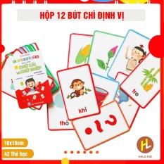 Bộ 42 Thẻ học Chữ cái và chữ ghép Tiếng Việt có hình minh họa sinh động cho bé