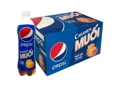 Pepsi Caramel Muối chai 390ml x 24 [HSD: 27/05/2019]