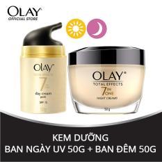 Combo dưỡng da ngày và đêm Olay Total Effect