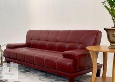 Sofa giường có tay vịn da simily