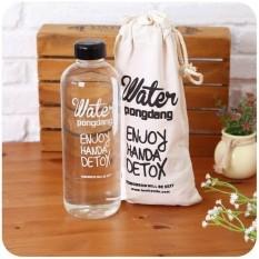BÌNH NƯỚC DETOX Water PongDang 1L + TÚI ĐỰNG – Bình nước detox 1000ml, bình nước thể thao, bình nước nhựa trong suốt 1 lít có túi dây rút đẹp kèm theo