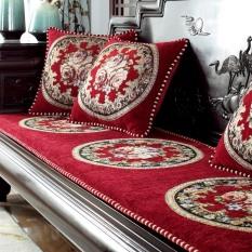 Thảm ghế hoàng gia, thảm ghế sofa 1m8 x 60cm loại mới mẫu màu đỏ