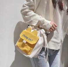 Túi đeo chéo CHONGYA nữ, túi đeo vai, túi mini nữ thời trang vải Canvas dây rút tiện lợi