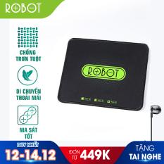 Miếng Lót Chuột Kiểu Dáng Gaming ROBOT RP01 Kích thước 22 x 18 cm Chất liệu: Vải + Cao su – Hàng chính hãng
