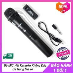 [xả hàng – Giá sốc] Bộ Micro không dây V10 Hát Karaoke, Không Dây Đa Năng, micro giá rẻ , Micro không dây, Dùng cho ÂMLY, LOA KÉO , loa trợ Giảng – INZEC