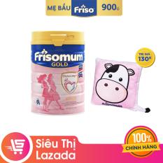 Sữa bột Frisomum Gold hương cam 900g dinh dưỡng kép cho mẹ mang thai và cho con bú + Tặng 1 gối tựa lưng trị giá 130K
