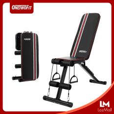 OneTwoFit Ghế tập tạ đa năng Ghế gập bụng chống đẩy tập gym đa năng có thể gấp lại Có thể điều chỉnh độ nghiêng OT226