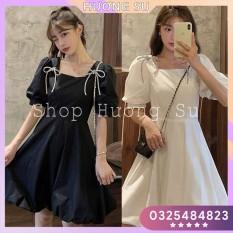 Váy nơ vai tay bồng cá tính Hương Su